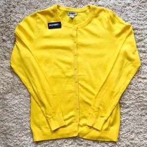 NWT Old Navy Yellow Crewneck Cardigan